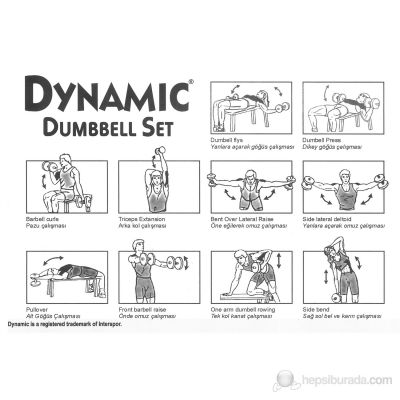 Dynamıc Vinly Dumbbell Set 20 Kg