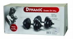 Dynamıc - Dynamıc 20 Kg Vinly Dumbbell Set