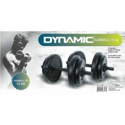 Dynamic - Dynamıc 15 Kg Vinly Dambıl Set