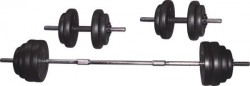 Voit 50 kg Vinly Kaplı Barbell Set - Thumbnail