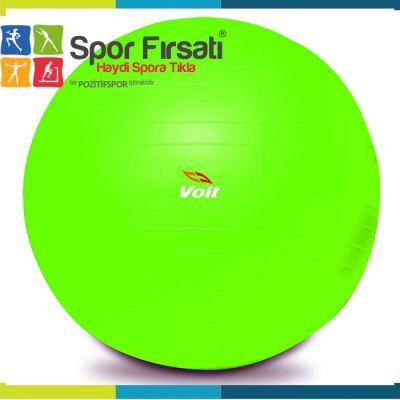 Voit 55 Cm Pilates Topu Yeşil + Pompa Hediyeli