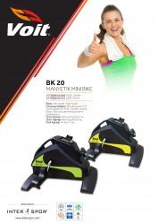 Voit - Voit BK20 Mini Bike Dijital Göstergeli Kondisyon Bisikleti-Yşl -Syh