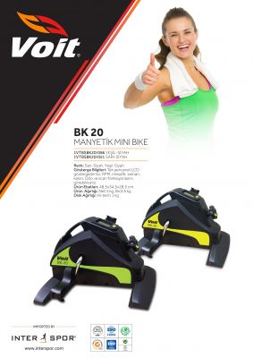 Voit BK20 Mini Bike Dijital Göstergeli Kondisyon Bisikleti-Yşl -Syh