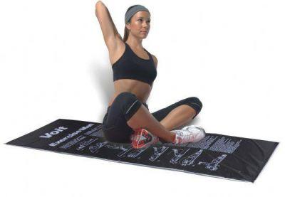 Voit Egzersiz Minderi Gri-Siyah Çantalı