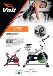 Voit Mercury Spin Bike Kondisyon Bisikleti_Kırmızı - Thumbnail