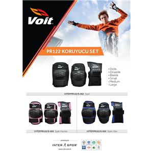 Voit PR122 Koruyucu Set Siyah- Pembe (Large)