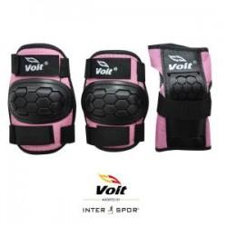 Voit - Voit PR122 Koruyucu Set Siyah- Siyah-Pembe (Medium)