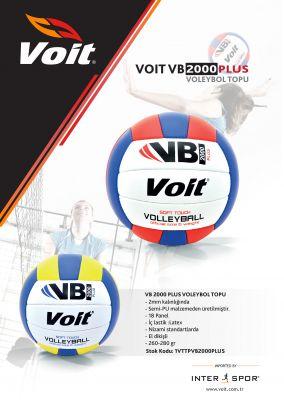 Voit VB2000 Plus Voleybol Topu No 5 Sarı-Beyaz-Lacivert