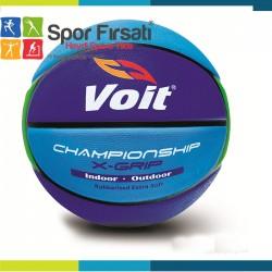 Voit - Voit XGrip Basketbol Topu N:7 Mavi Lacivert