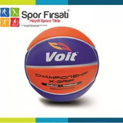 Voit - Voit XGrip Basketbol Topu N:7 Sarı-Lacivert
