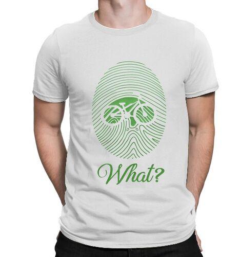 BikeStyle Temalı Özel Tasarım Tshirt Parmak İzi -Beyaz