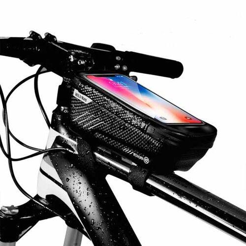 Pozitif - Pozitif Bisiklet Çantası Yağmur Geçirmez Su Geçirmez Bisiklet Çantası Üst Tüp Çanta
