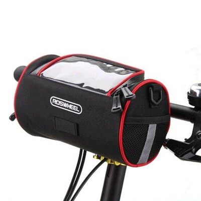 ROSWHEEL Dokunmatik Ekran Bisiklet Gidon Çantası - Thumbnail