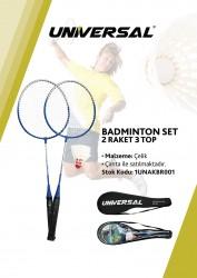 Universal - Universal 3 Top 2 Raket Badminton Seti