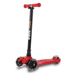 Voit - Voit 218 Işıklı 3 Teker Scooter- Kırmızı