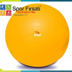Voit - Voit 55 Cm Pilates Topu Sarı + Pompa Hediyeli