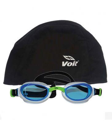 Voit - Voit Glider Yüzücü Gözlüğü -BYZ-YŞL+Voit Bone Siyah