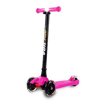 Voit - Voit Mini Led Işıklı 3 Teker Scooter -Fuşya-New