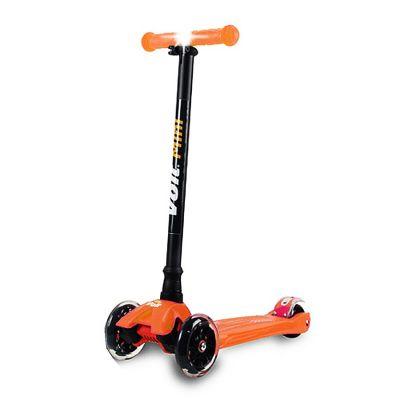 Voit - Voit Mini Led Işıklı 3 Teker Scooter -Turuncu-New