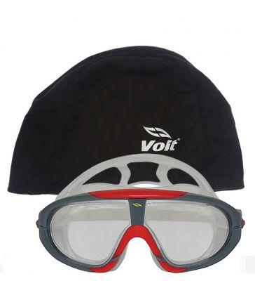 Voit - Voit Storm Yüzücü Gözlüğü SYH KRM+-Voit Bone Siyah